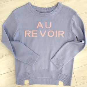 "English Factory ""Au Revoir"" Sweater"
